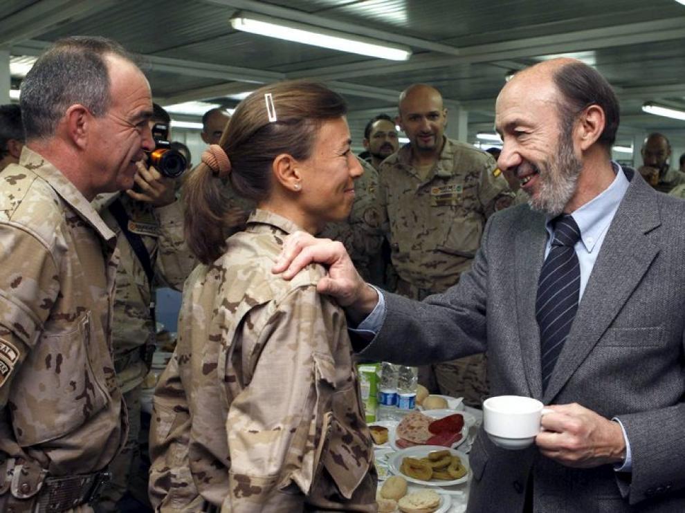 El vicepresidente felicita las Navidades a los soldados desplegados en Afganistán