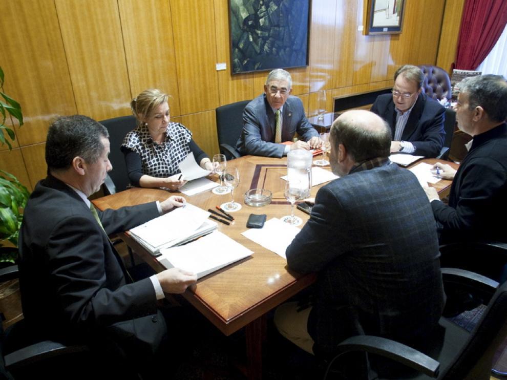 Junta de portavoces en el Ayuntamiento de Zaragoza