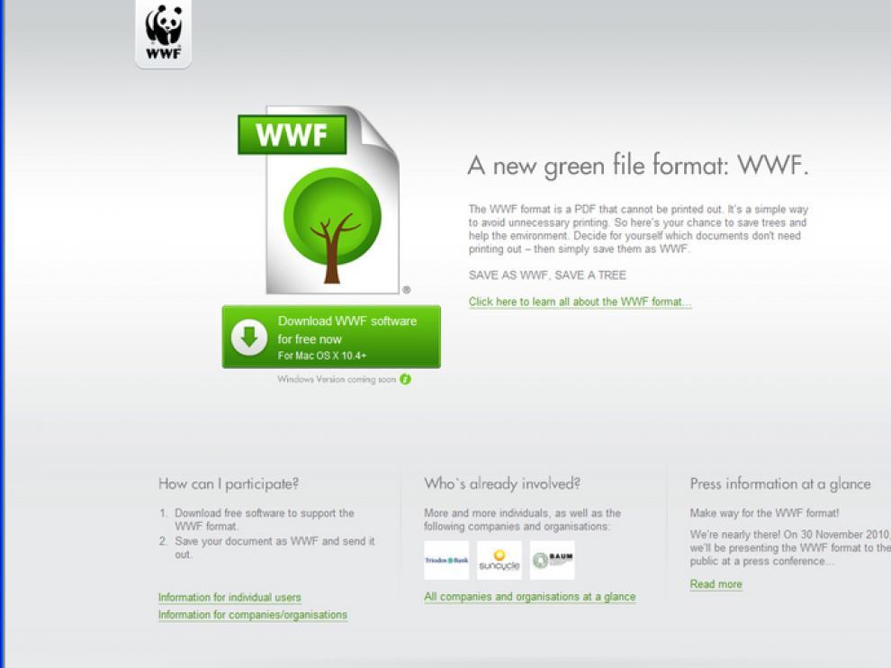 Nace el formato WWF