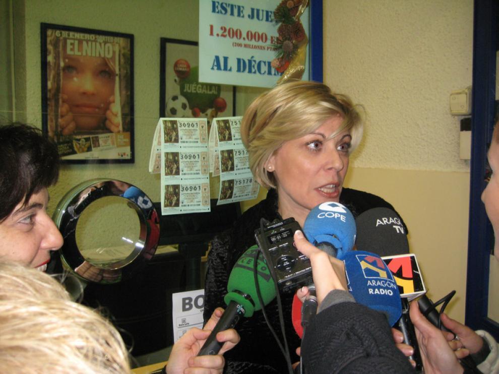 Yolanda Delgado responde a la prensa minutos después de conocer la noticia