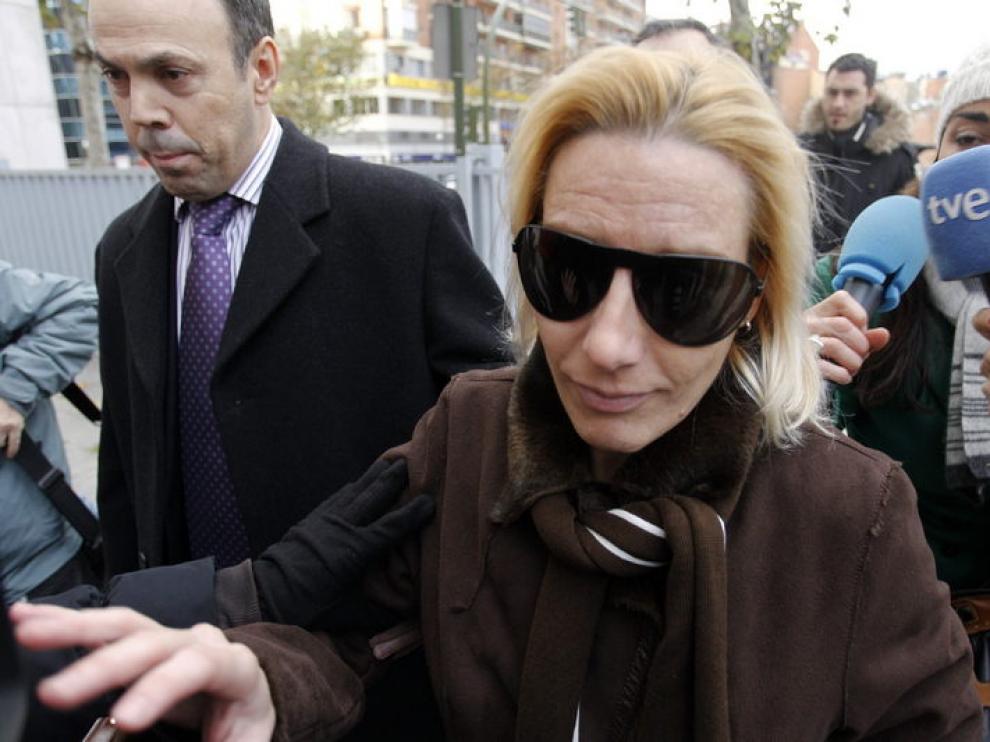 Marta Domínguez, a su llegada a los juzgados