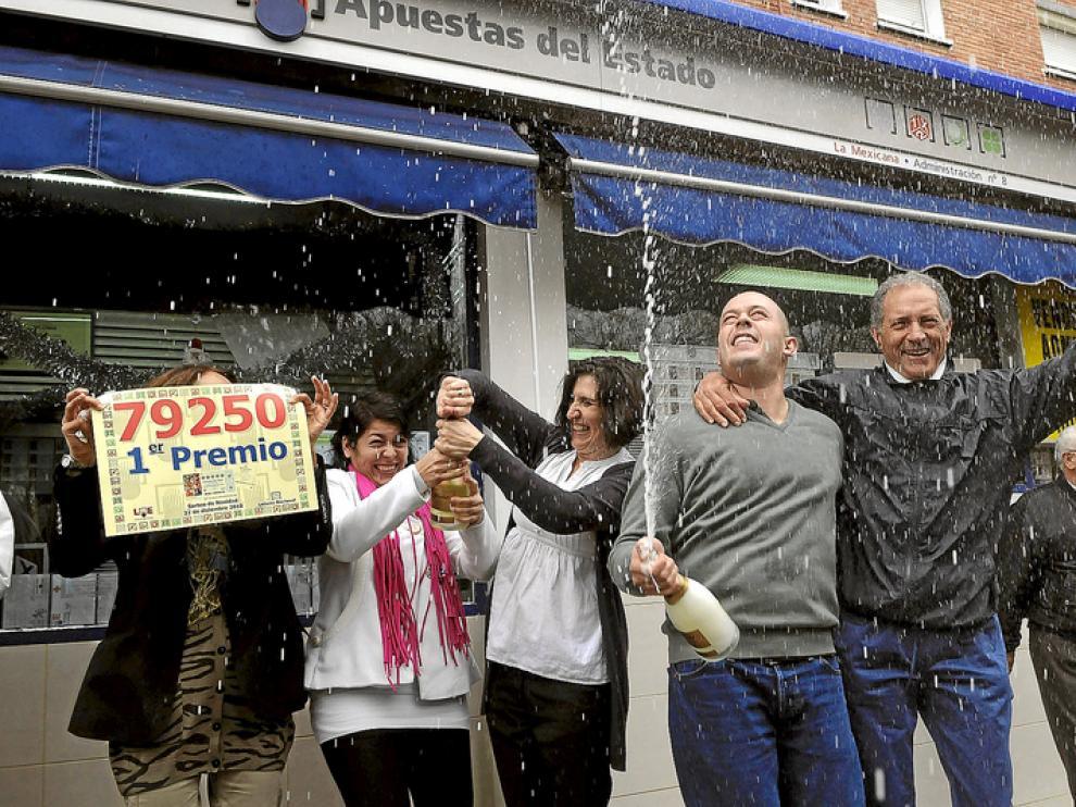 Imagen de archivo de una Administración de Lotería madrileña