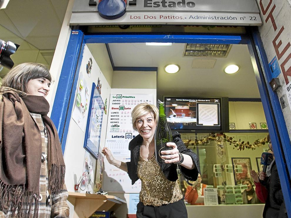La administración nº 22 de Zaragoza repartió 3 millones de euros del Gordo en 2010