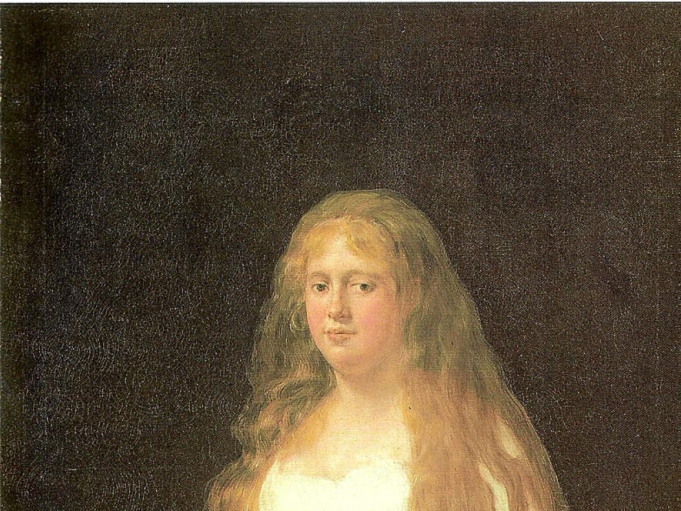 Josefa Castilla de Garcini, en 1804, un cuadro de Goya.