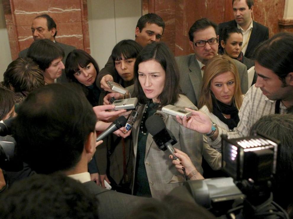 La ministra centra la atención mediática.