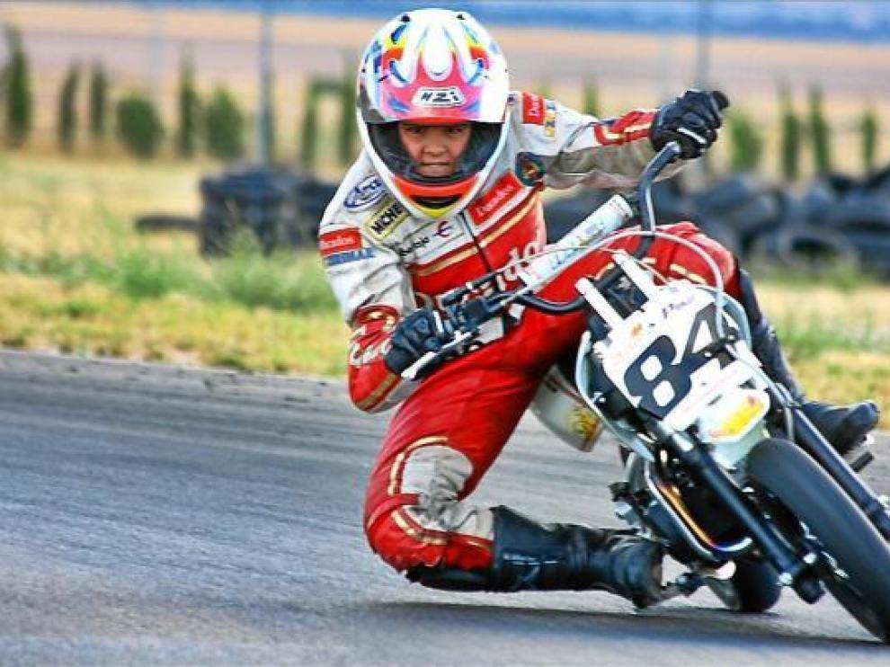 José Burgaz Varela, en acción en la Copa IMR 90 cc Alevín.