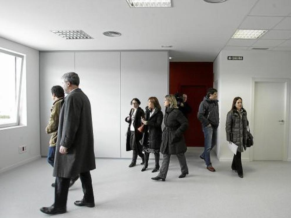 Las autoridades visitaron las instalaciones del CRTI levantadas en el polígono Sepes.
