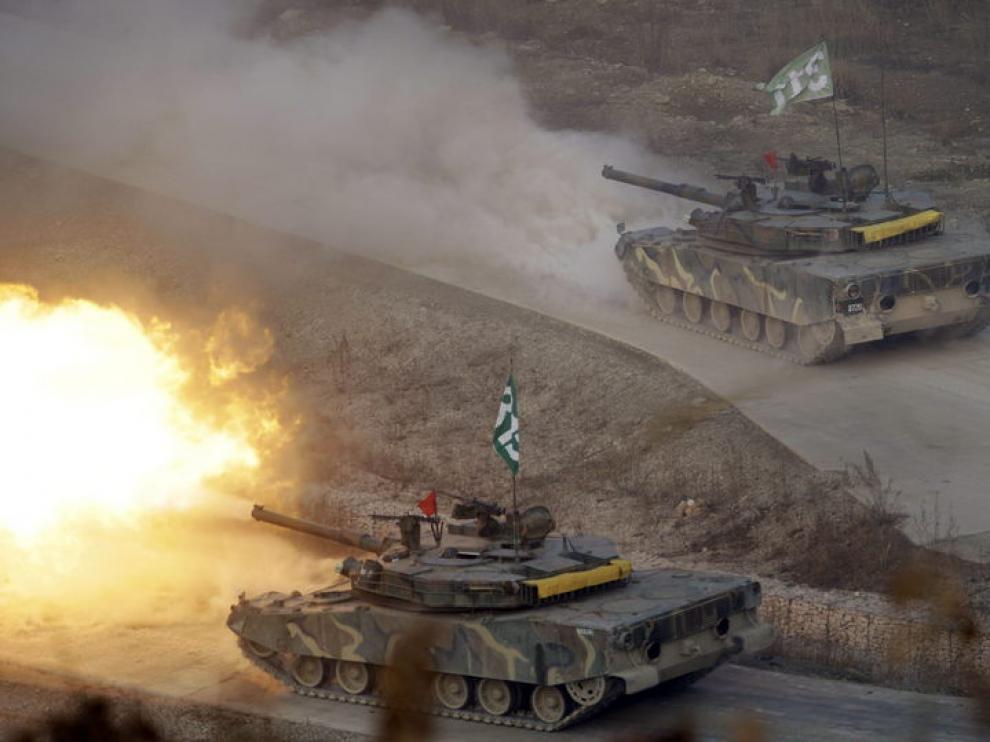 Pruebas militares por parte del Ejército surcoreano