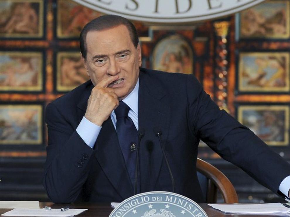 Silvio Berlusconi durante su discurso de Navidad