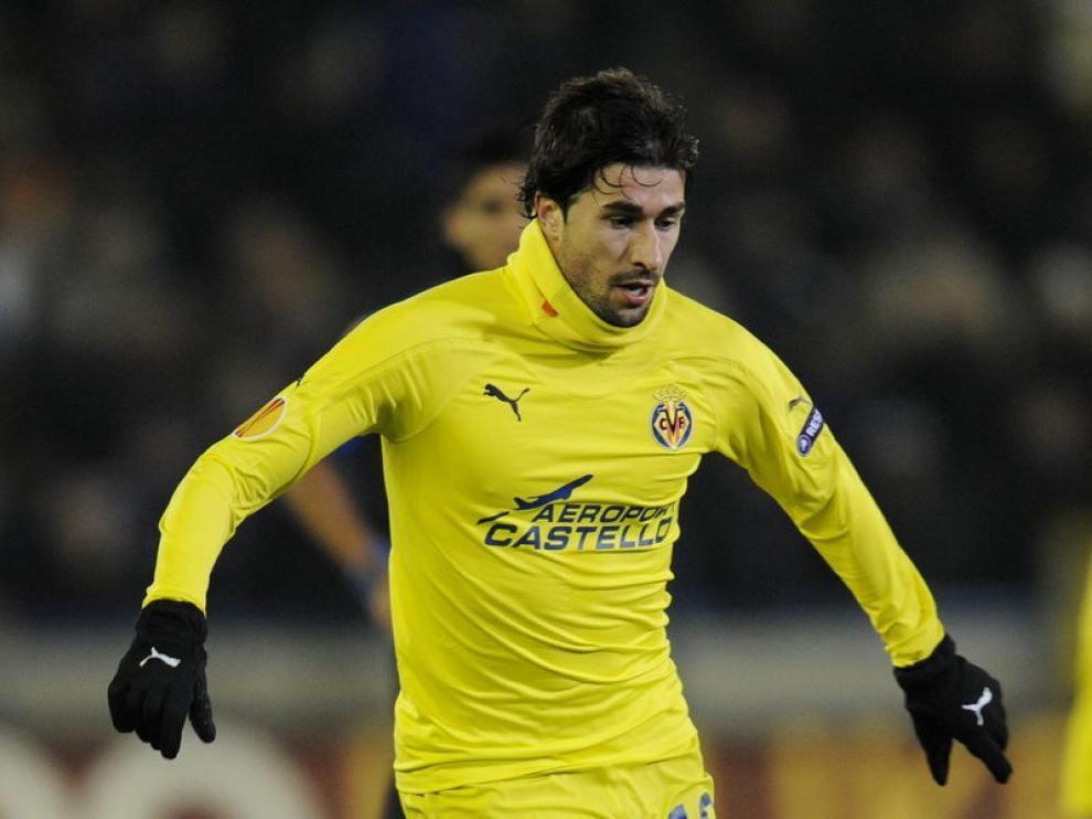 Cani durante el partido del Villarreal ante el Brujas de la Europa League, esta temporada.