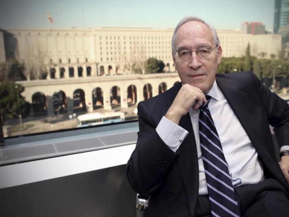 Manuel Pizarro, en su despacho madrileño de Baker&McKenzie, entidad que preside en España y que le ha nombrado socio en Chicago.