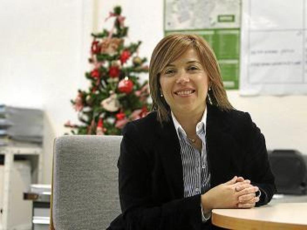 Ana Alos, en el despacho del grupo municipal del PP.