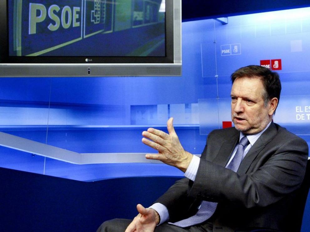 Iglesias, en la sede del PSOE en Madrid