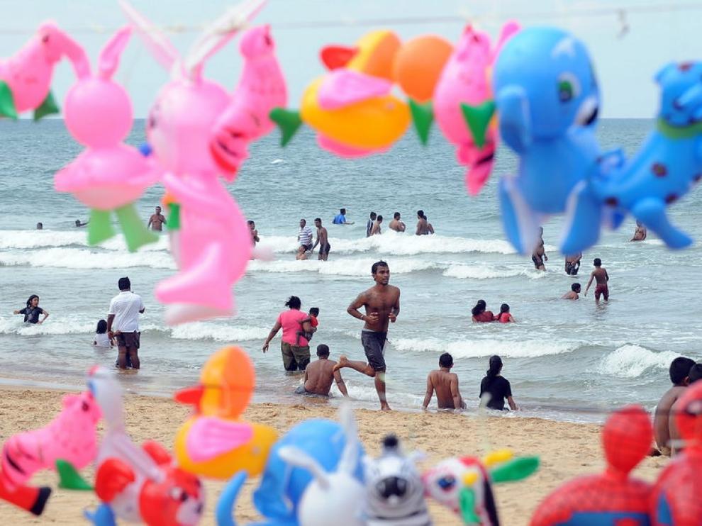 Playa de Colombo, en Sri Lanka, donde murieron 31.000 personas por el tsunami