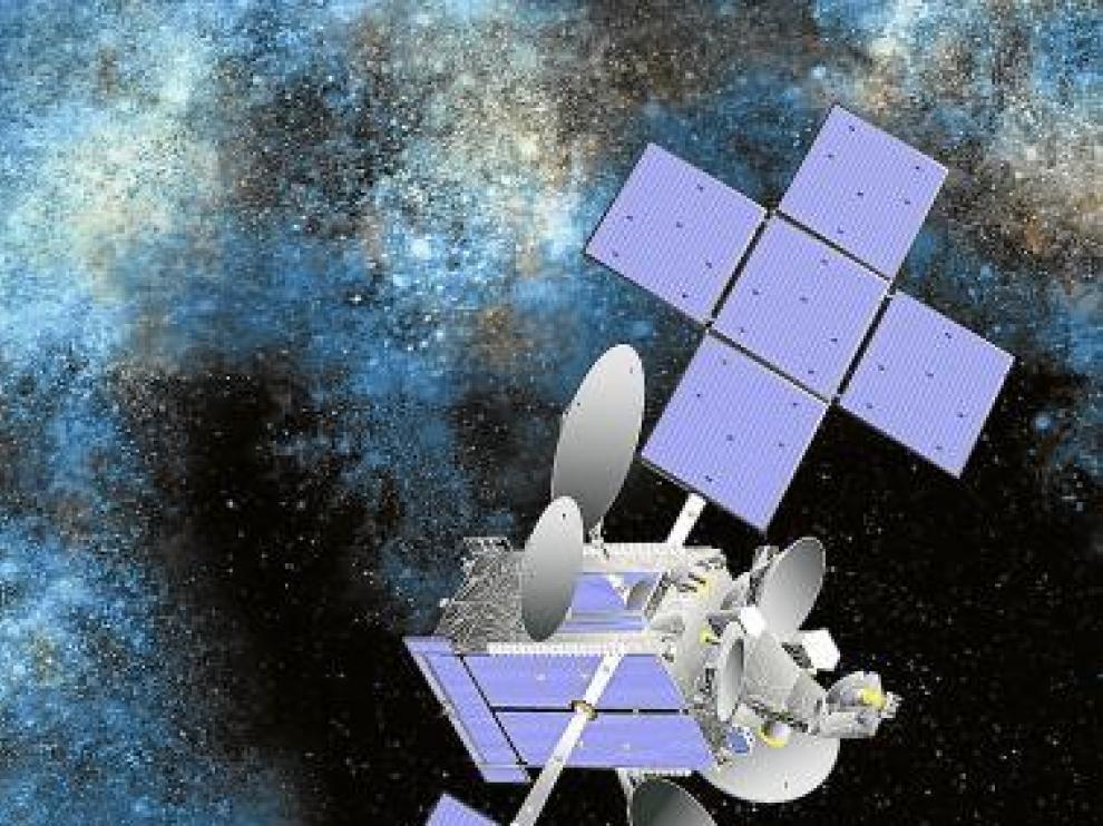 Recreación del Hispasat 1E, que se ubicará a 36.000 km de la Tierra.