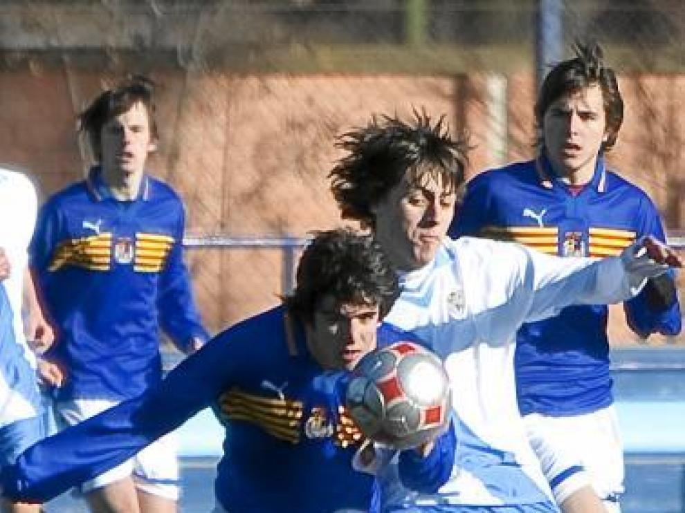 Imagen del partido entre Aragón y Galicia sub-16.
