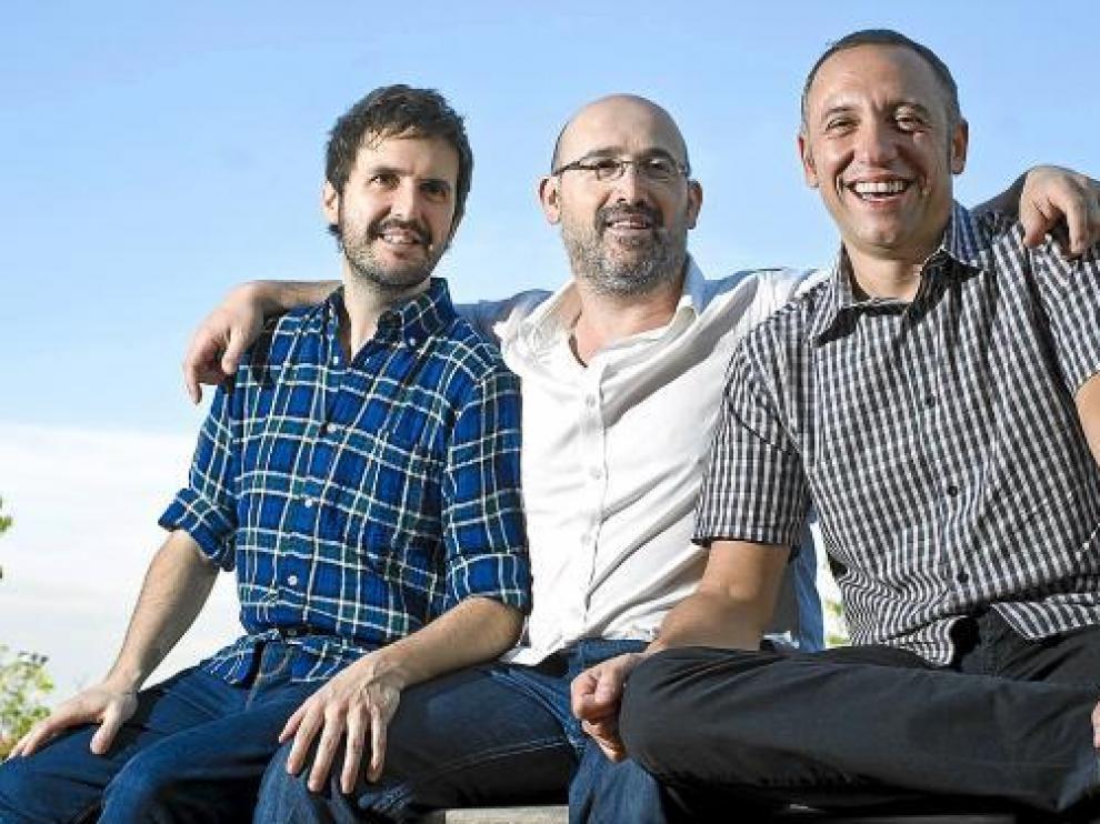De izquierda a derecha: Julián López, Javier Cámara y Nacho García Velilla.