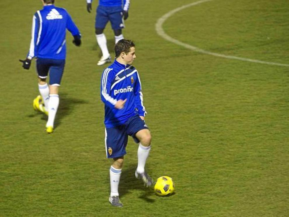 Ander Herrera, ayer por la tarde, en un momento del entrenamiento del equipo.