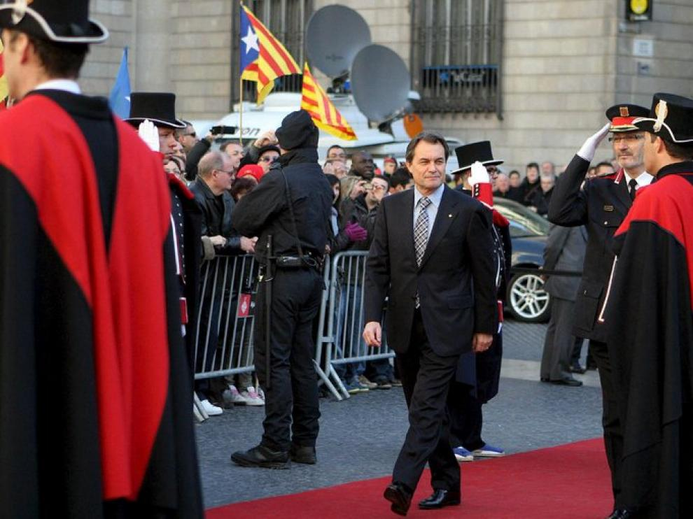 Artur Mas a su llegada a la ceremonia.
