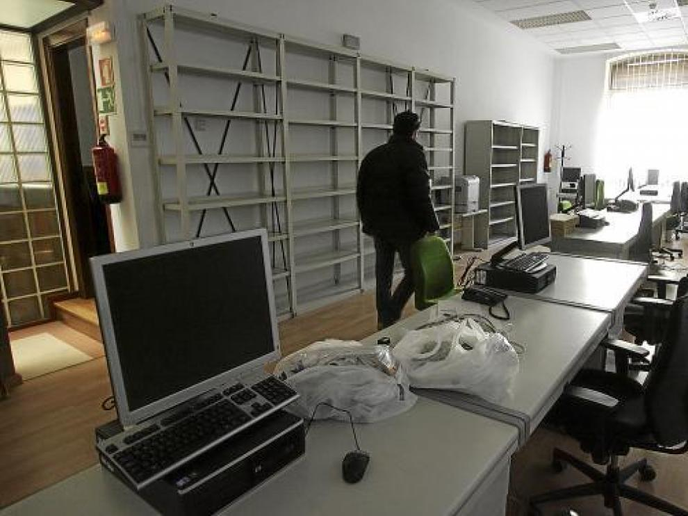 El nuevo juzgado de Huesca se ubica en las anteriores dependencias de lo Penal, que se ha trasladado.