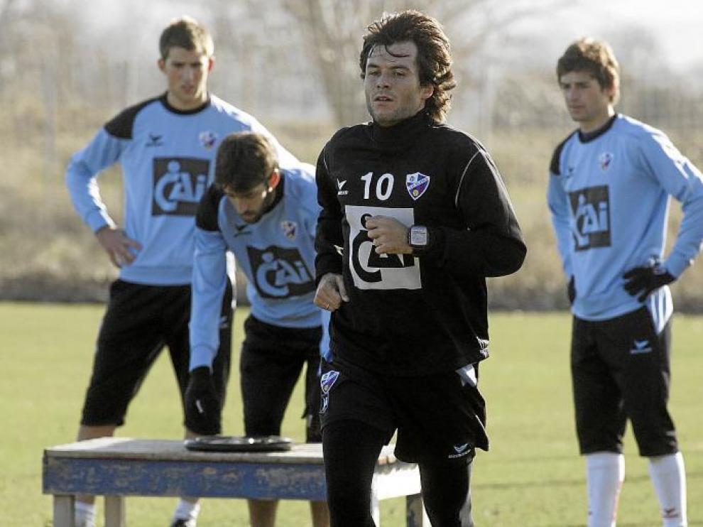 Juanjo Camacho se ha entrenado al margen de sus compañeros en los dos primeros días de esta semana, tras las vacaciones navideñas.