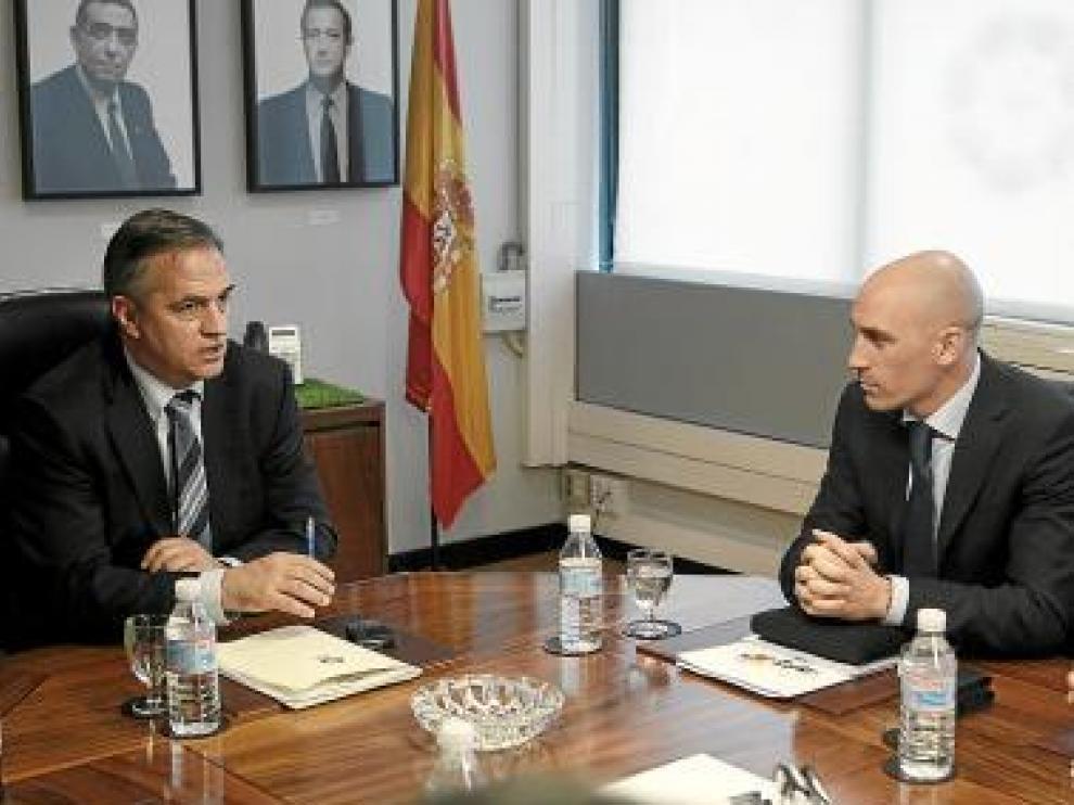 Astiazarán, presidente de la LFP, y Rubiales, presidente de la AFE.