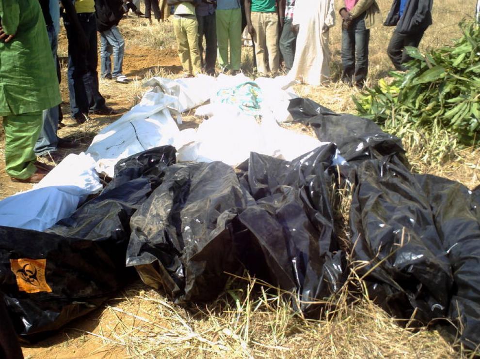 Varios cadáveres tras los atentados de Nochebuena.