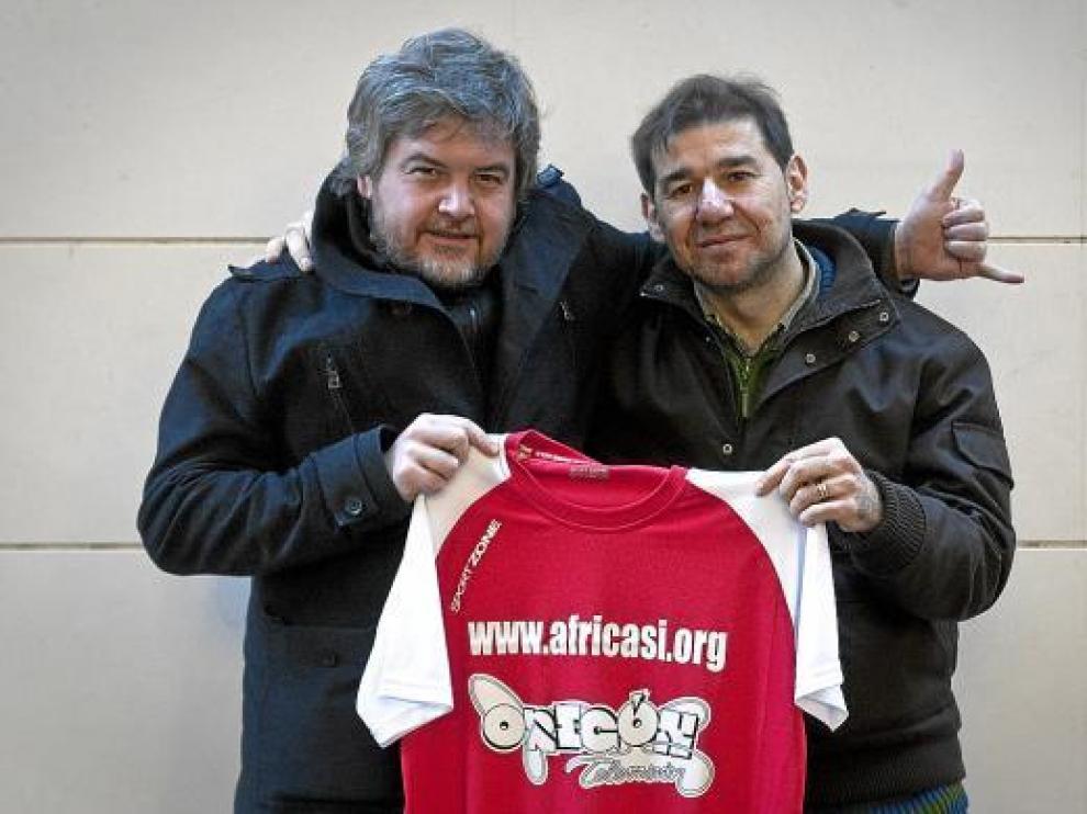 Javier Coronas y Juan Carrillo, volcados con la iniciativa.