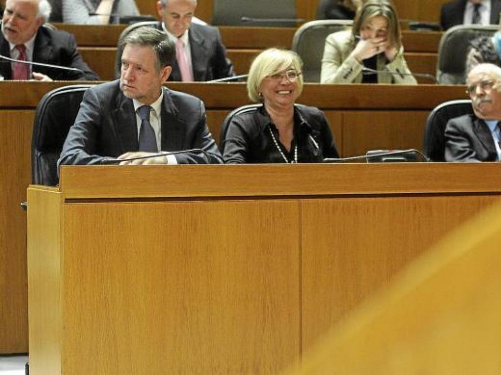 Marcelino Iglesias, Eva Almunia en las Cortes