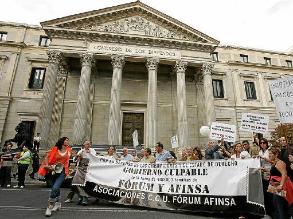 Imagen de archivo de la manifestación convocada en 2006 en Madrid por los afectados.