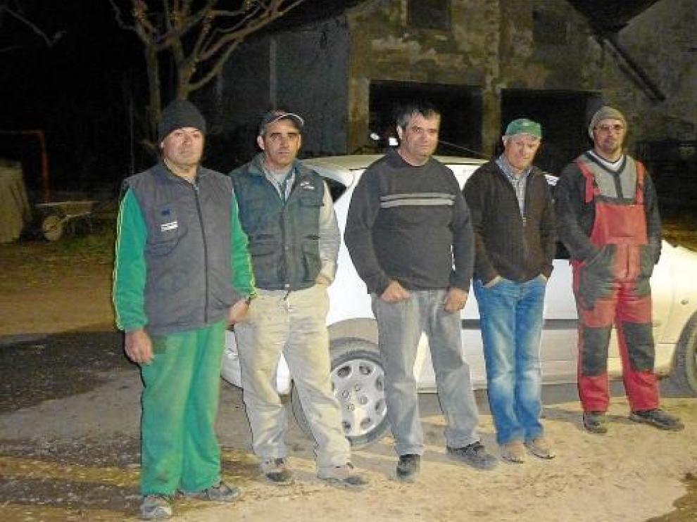 Uno de los grupos de agricultores que participará en las patrullas rurales nocturnas.