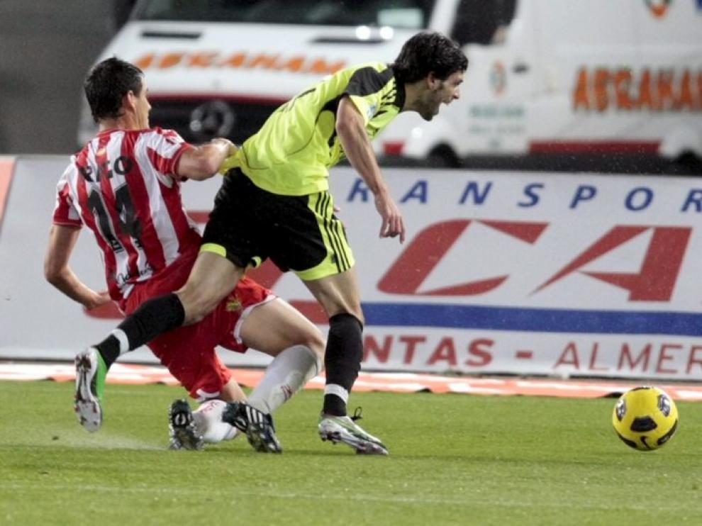 Rigo provoca el penalty sobre Lafita en su único partido disputado en Primera División