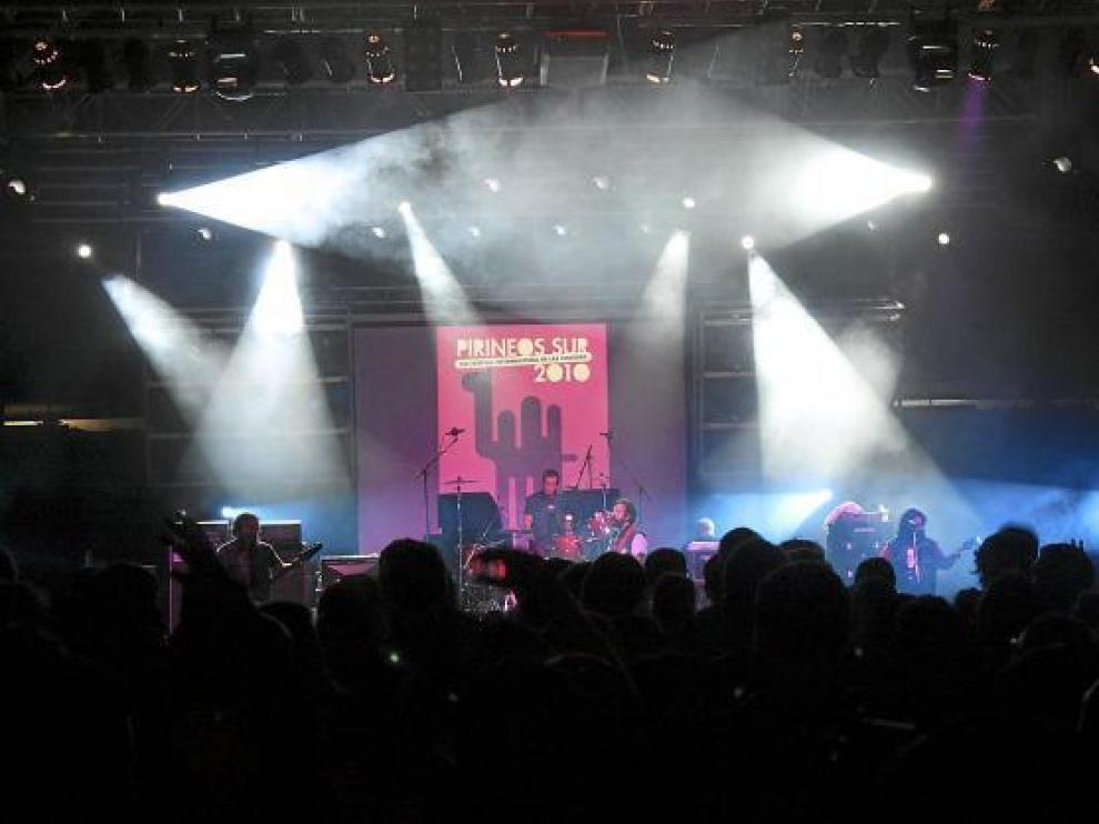 Imagen de uno de los conciertos de la pasada edición del festival altoaragonés Pirineos Sur.