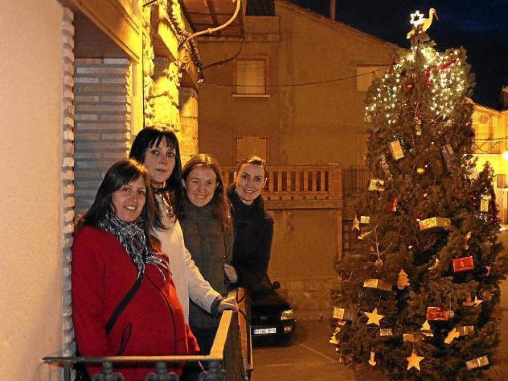 Merche Izquierdo, Gema Rodríguez, Alicia Arnau y Puri Villarroya, todas embarazadas.