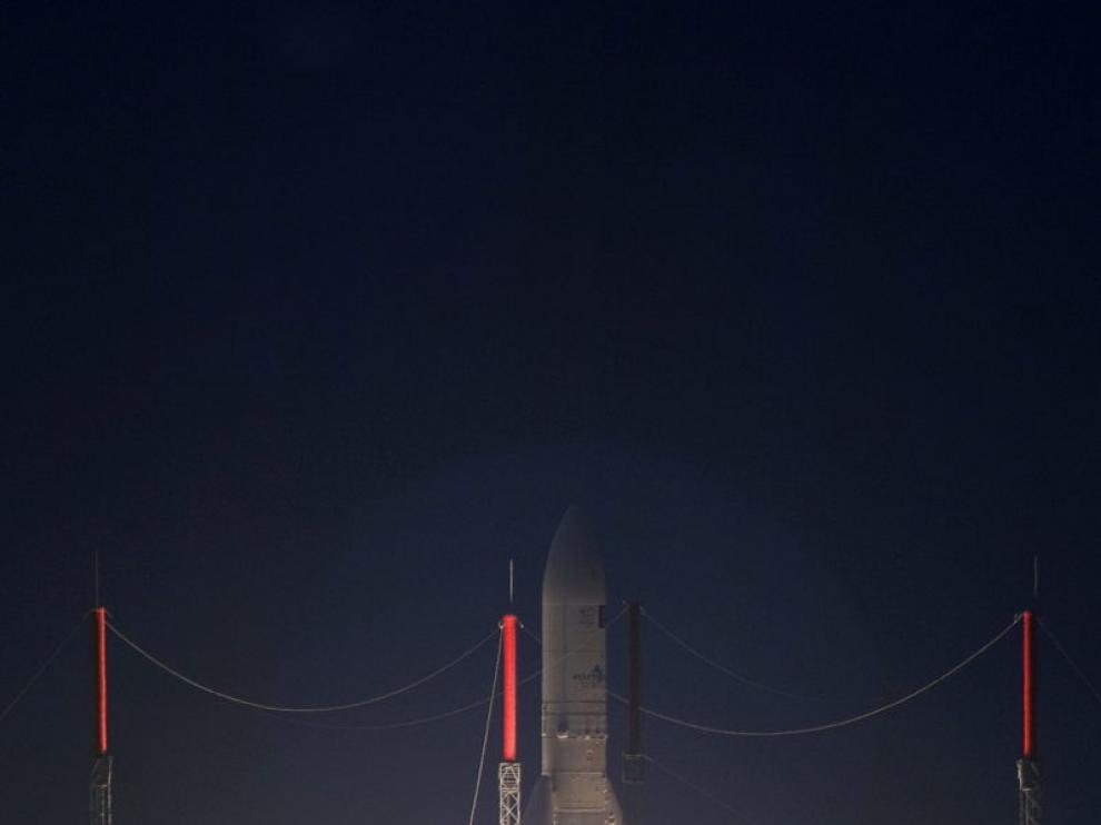 Lanzamiento del cohete con el satélite 'Hispasat 1E'.