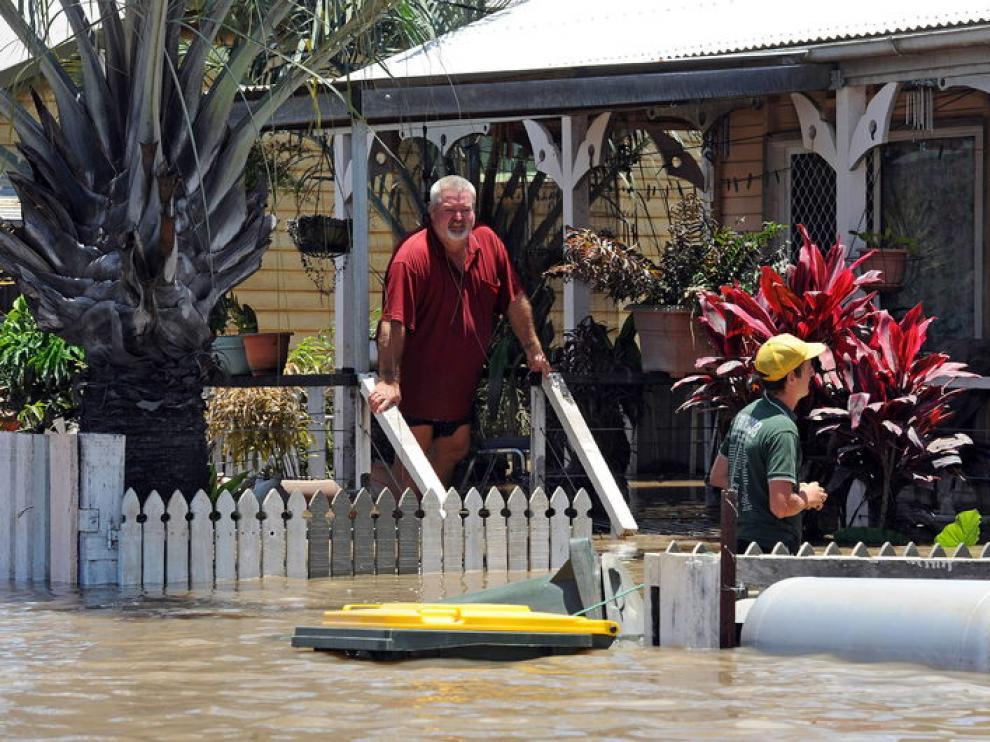 La localidad de Bundaberg, bajo el agua.