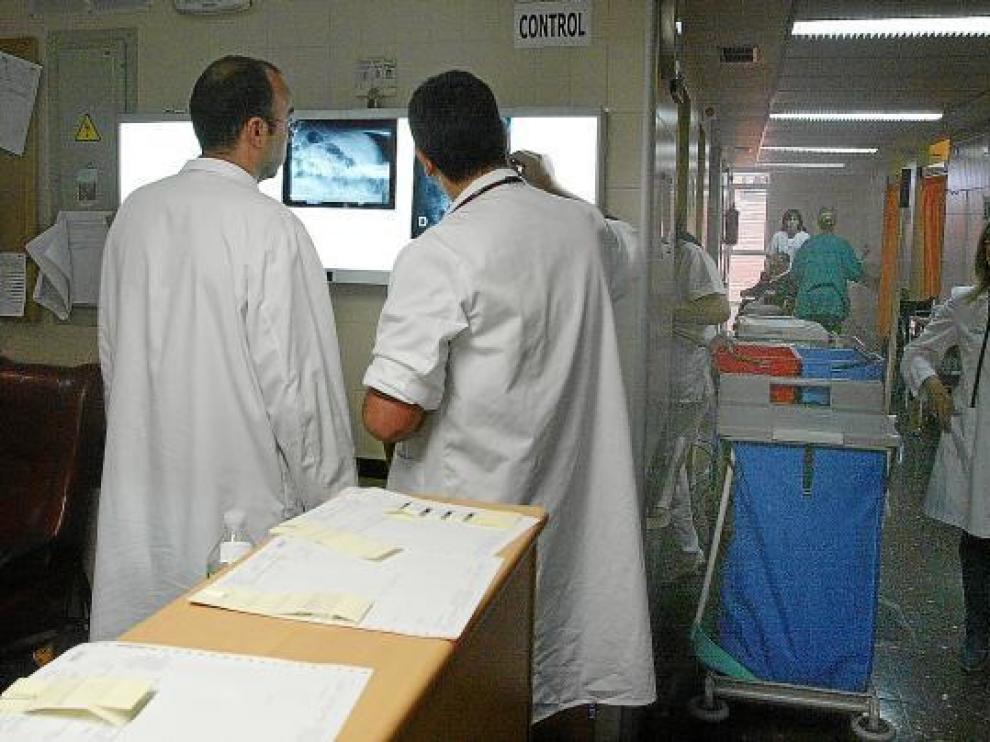 Médicos del Servicio de Urgencias del Obispo Polanco en una imagen de archivo.