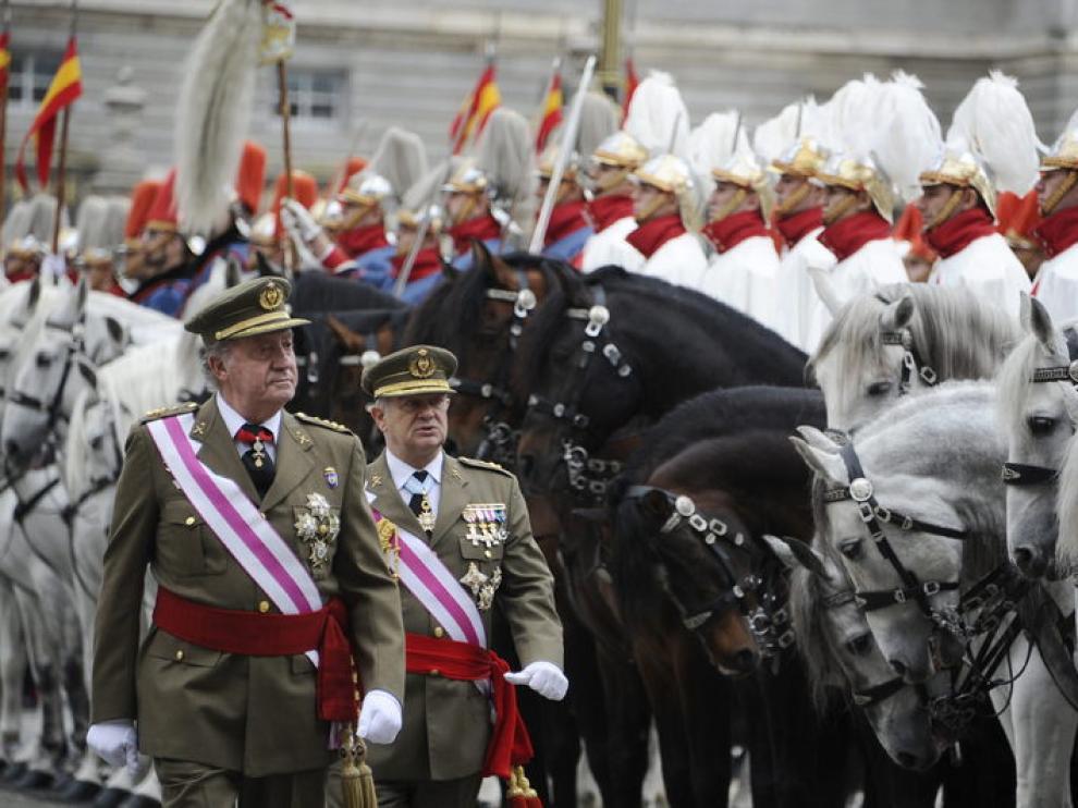 El Rey, durante la celebración de la Pascua Militar