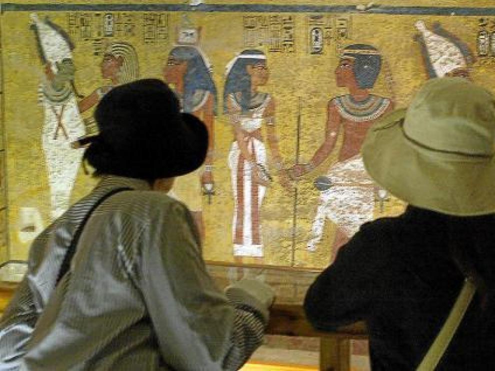 Imagen de la tumba de Tuntankamón, una de la que se va a cerrar al público.