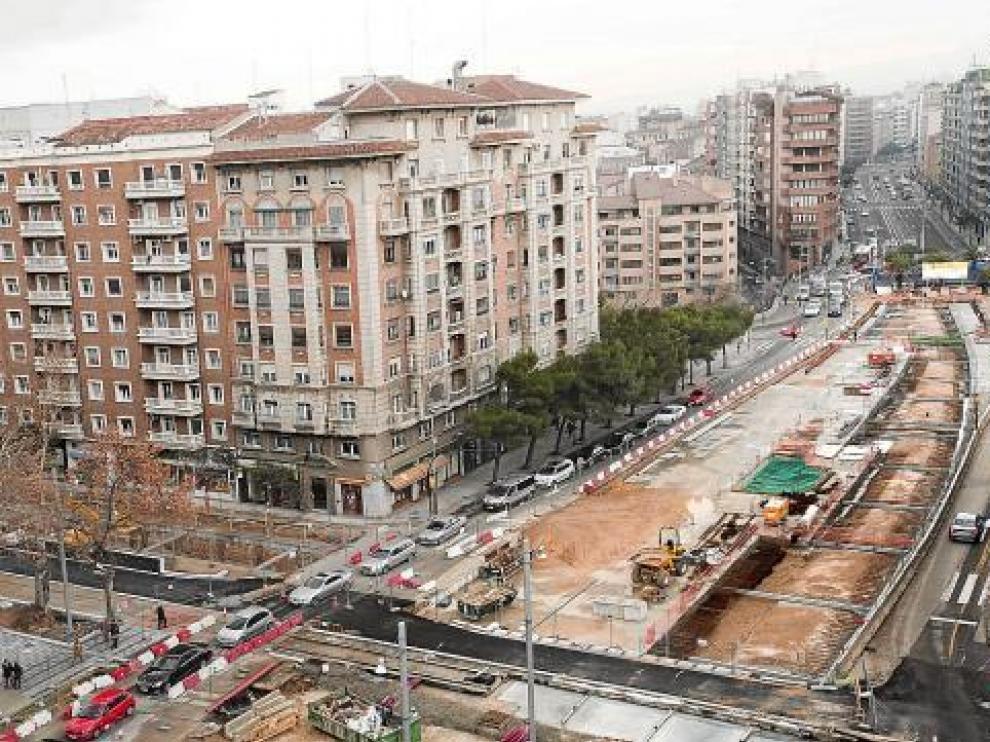 La obra del apeadero de Goya obligará a cerrar Cortes de Aragón en dos semanas