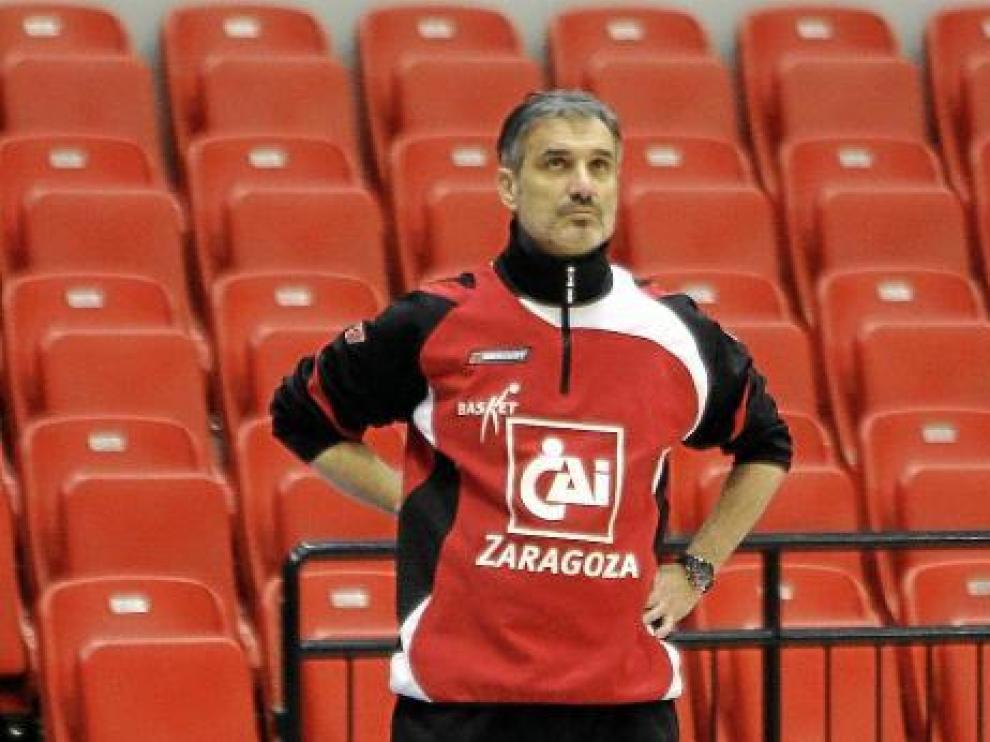 José Luis Abós durante un entrenamiento.