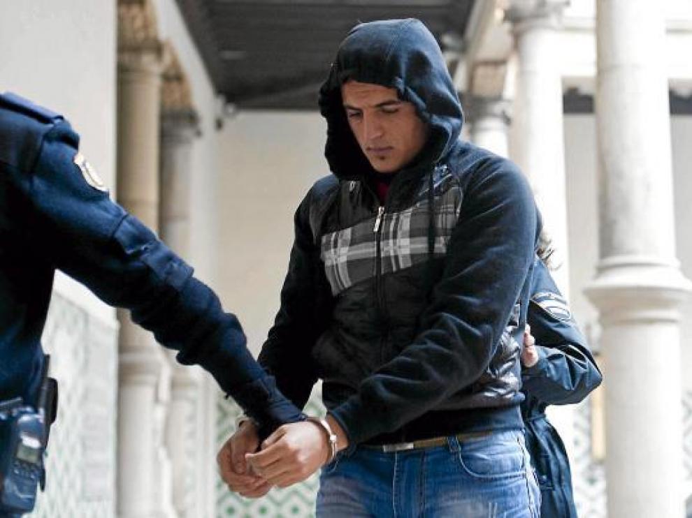 Uno de los procesados, el pasado 22 de diciembre, cuando se celebró el juicio en la Audiencia de Zaragoza.