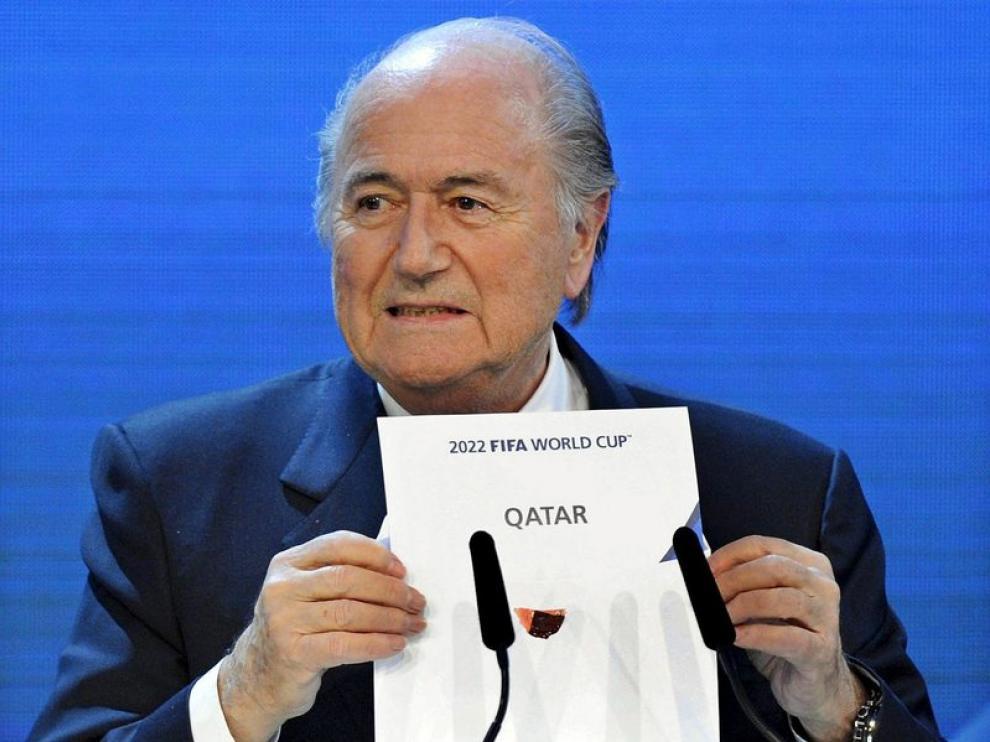 Blatter en la ceremonia.