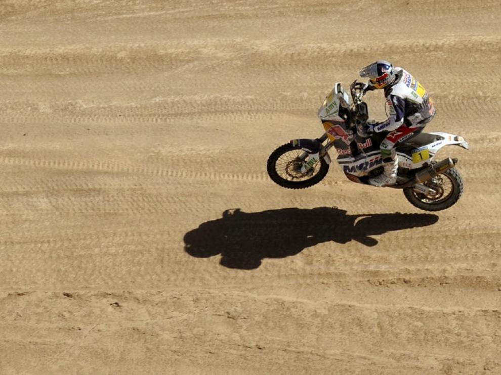 Marc Coma a bordo de su KTM.
