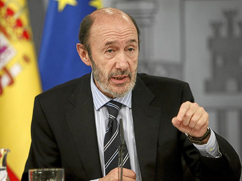 El vicepresidente primero y ministro del Interior, Alfredo Pérez Rubalcaba