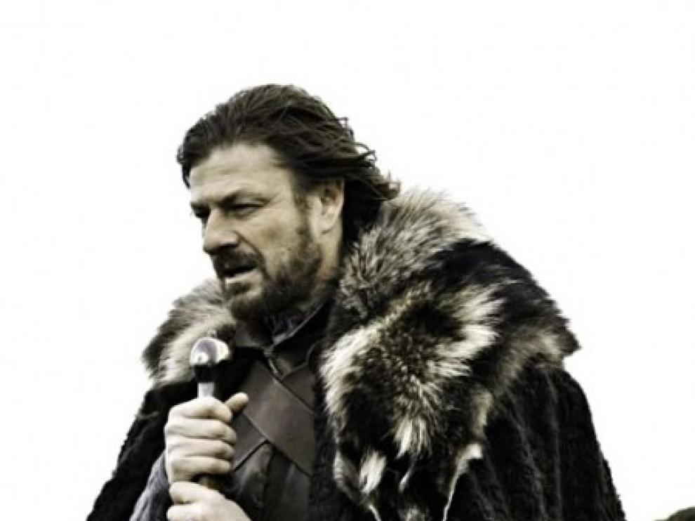 Sean Bean caracterizado como Eddard Stark, protagonista de 'Juego de Tronos'