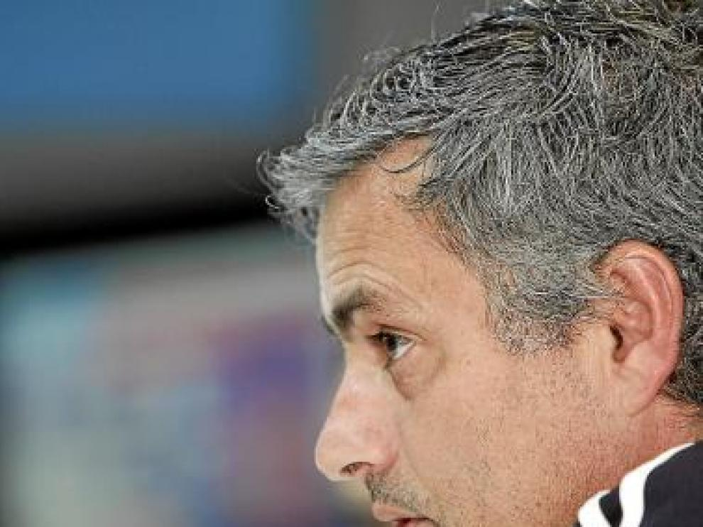 Mourinho, durante la rueda de prensa ofrecida ayer.