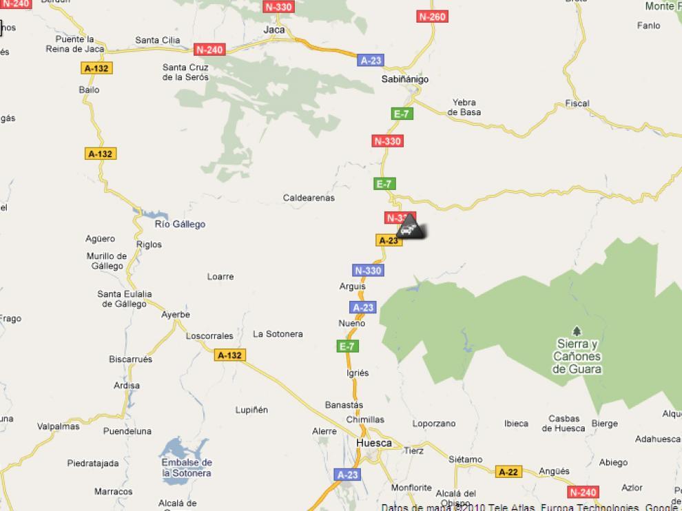 Mapa de la DGT