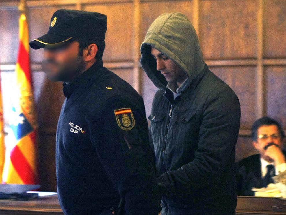 Víctor Manuel Gómez Rivero,  durante el juicio