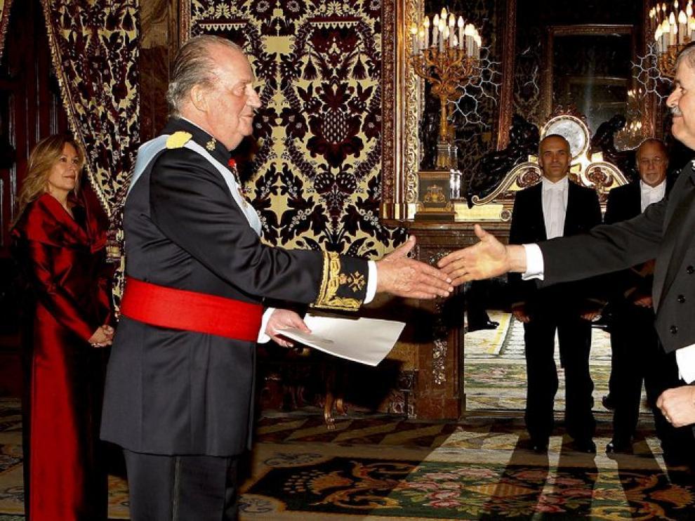 El Rey durante la reunión.